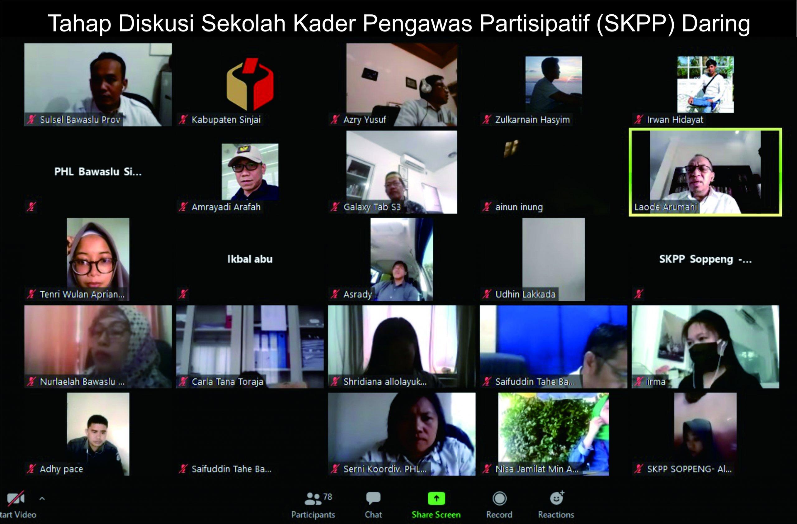 Tahap Diskusi SKPP Daring, Satu Langkah Menuju Kader Pengawas